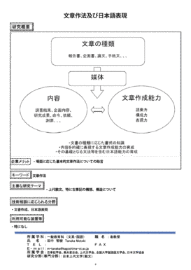 文章作法及び日本語表現