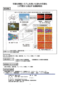 可視化情報システムを用いた流れの可視化 (2円管から流出する脈動噴流)